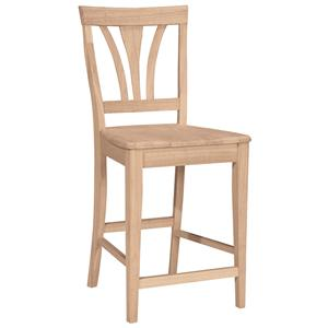 "John Thomas SELECT Dining 24"" Fanback Stool"