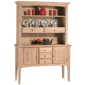 John Thomas SELECT Dining Display Hutch & Huntboard Server