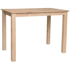 John Thomas SELECT Dining Solid Top Shaker Bar Table
