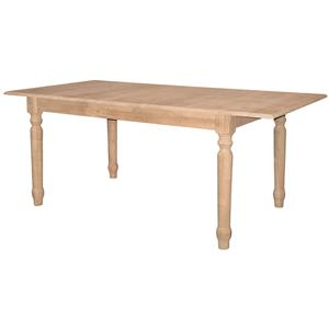 John Thomas SELECT Dining Butterfly Leaf Extension Table with Turned L