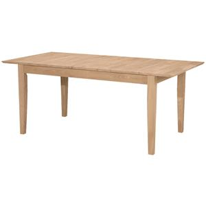 John Thomas SELECT Dining Butterfly Leaf Extension Table with Shaker L