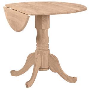 "John Thomas SELECT Dining 36"" Round Dropleaf Pedestal Table"