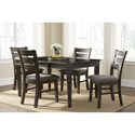John Thomas SELECT Dining 5-Piece Table and Chair Set - Item Number: T-4040XBT+60B+4xC-29B WM930