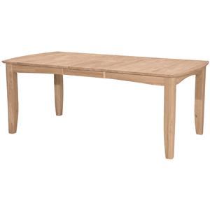 John Thomas SELECT Dining Bow End Shaker Leg Table