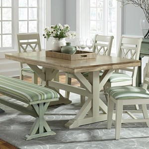 John Thomas Select Dining Double Butterfly Leaf Trestle