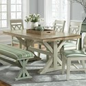 John Thomas SELECT Dining Trestle Dining Table - Item Number: T-4068B-AG18+4068A-WM85