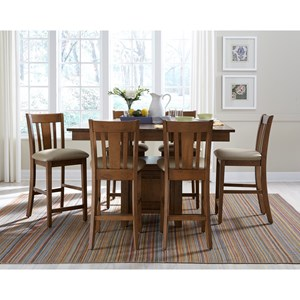 John Thomas SELECT Dining Counter Height Pub Table and Chair Set  sc 1 st  Baeru0027s Furniture & John Thomas SELECT Dining 5-Piece Table and Chair Set with Butterfly ...