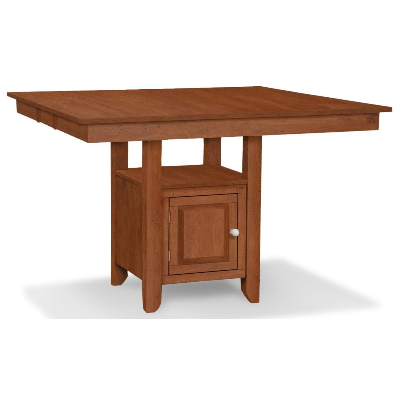 SELECT Dining Gathering Height Table with Pedestal Storage by John Thomas at Baer's Furniture