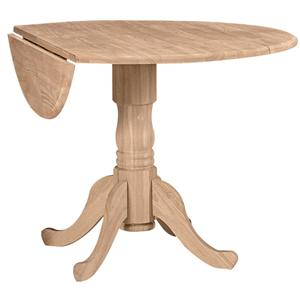 "John Thomas SELECT Dining 42"" Round Dropleaf Pedestal Table"