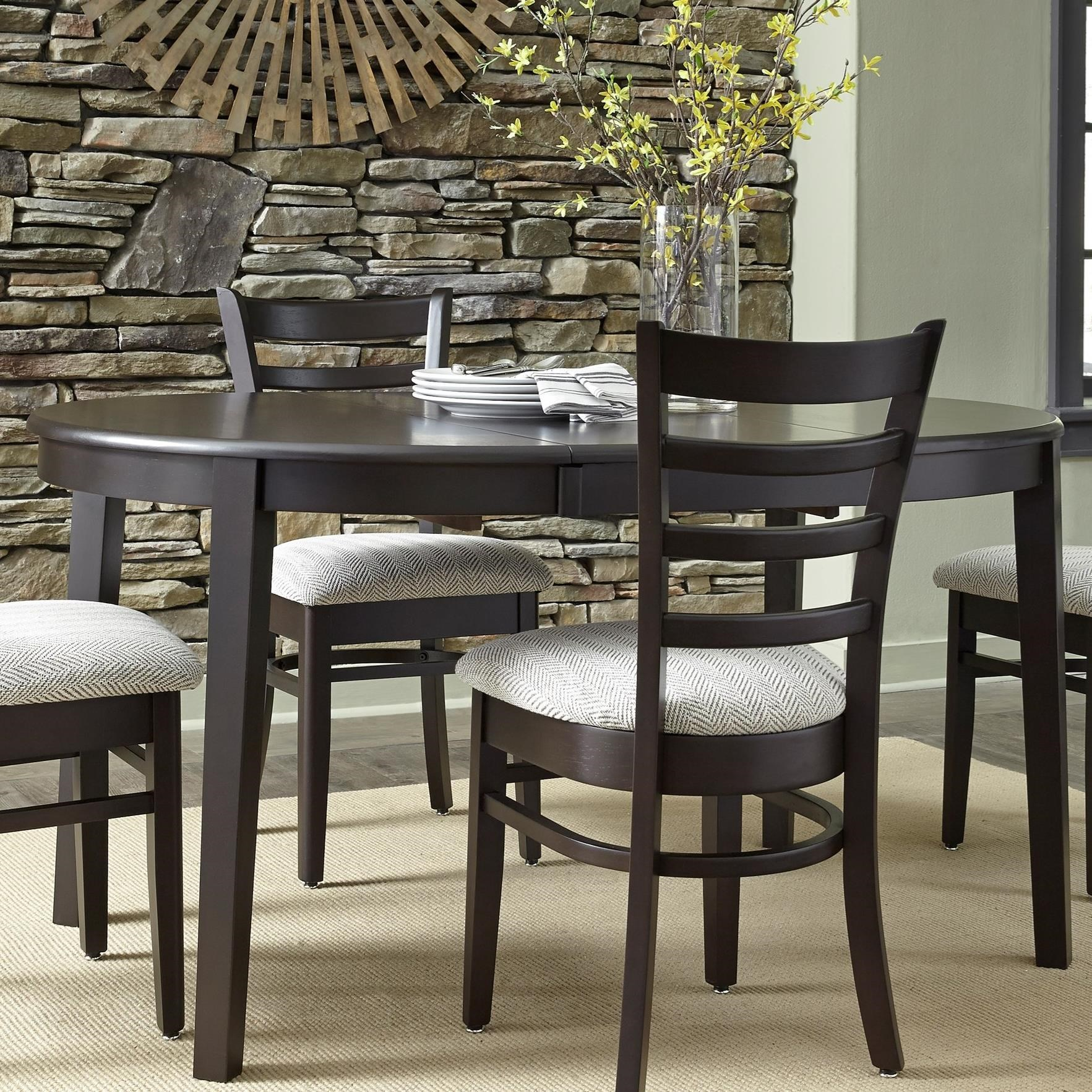 John thomas select dining emily 42 round table with butterfly leaf reeds furniture kitchen - Round kitchen table with butterfly leaf ...