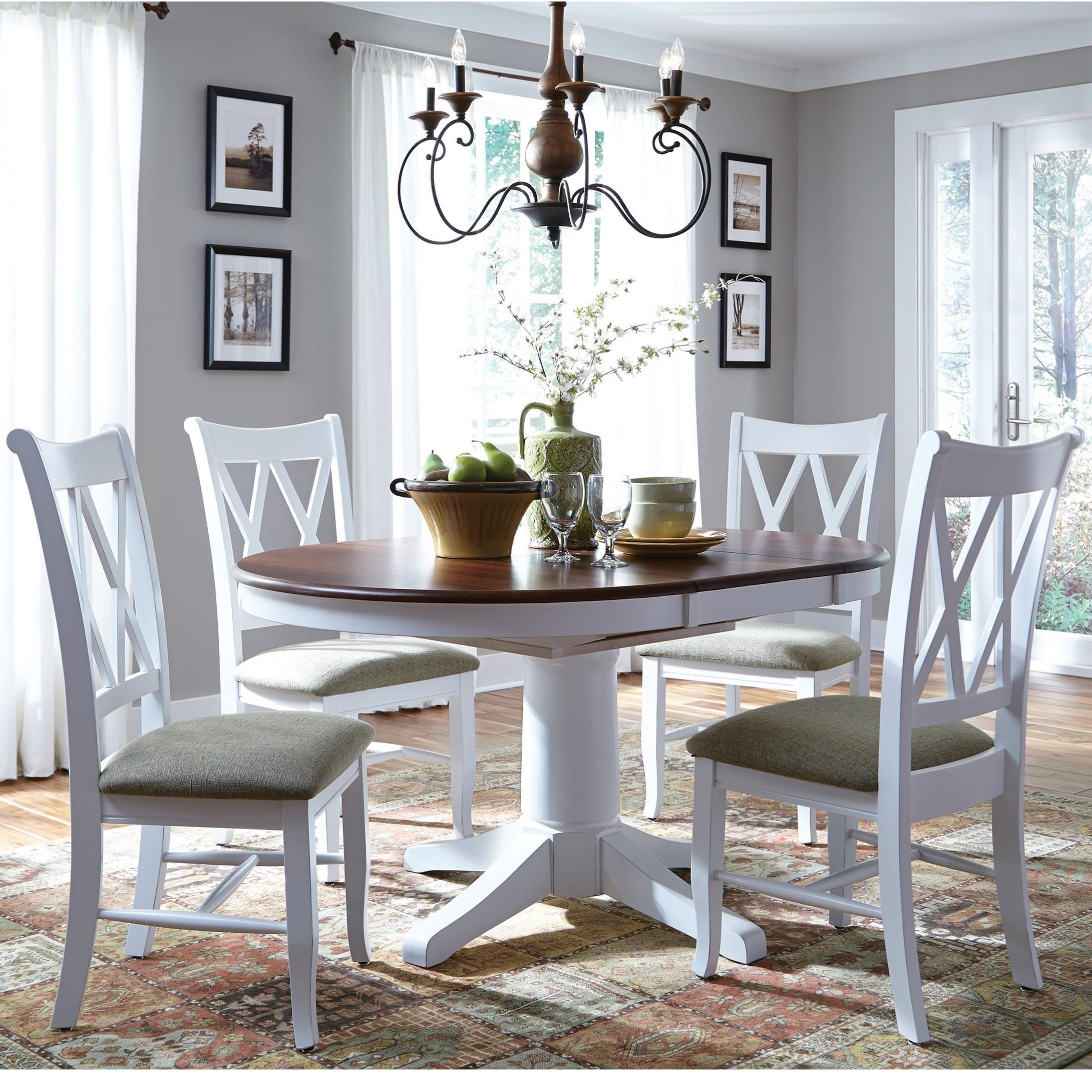 John Thomas Select Dining 5 Piece Dining Set With Double X Back