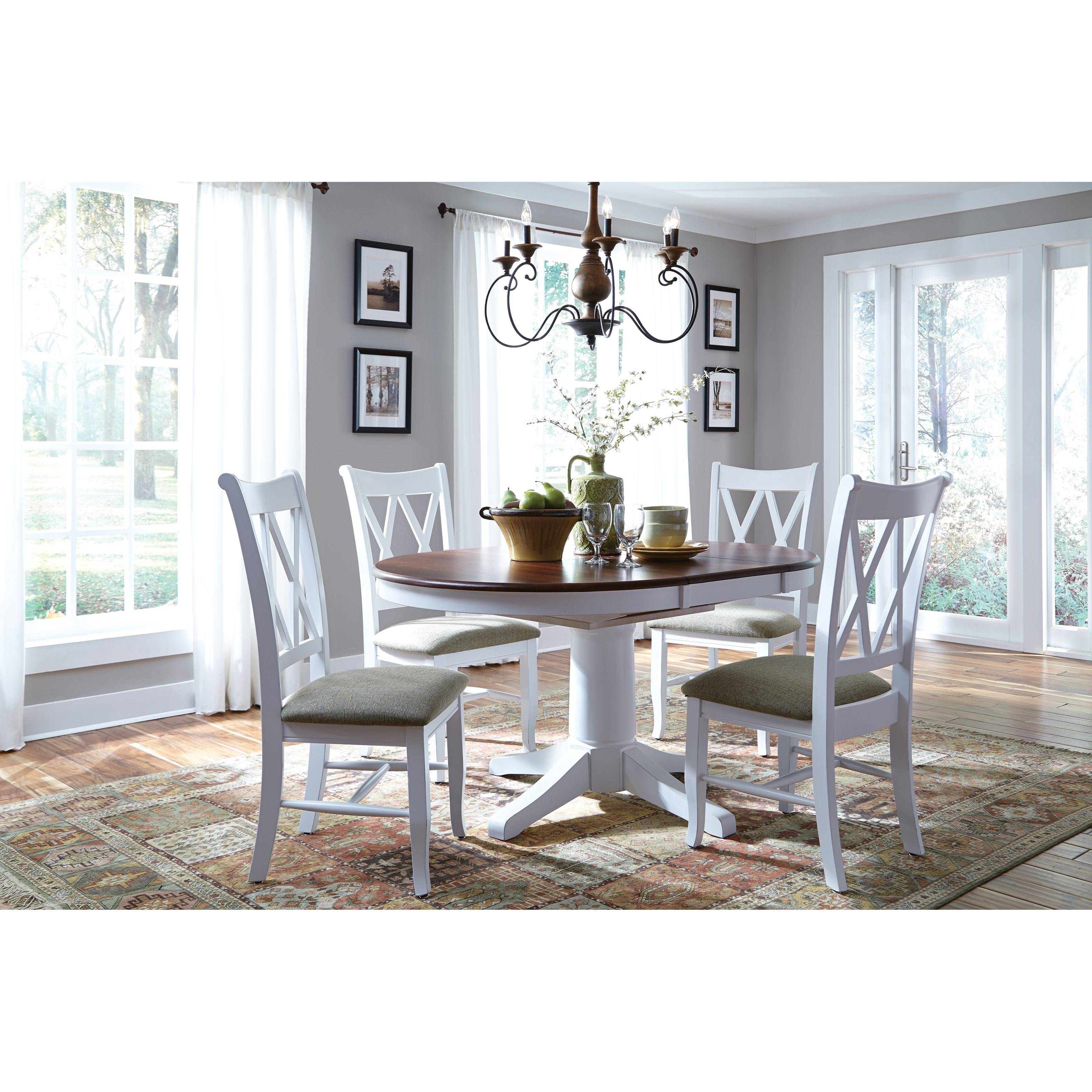 John Thomas Select Dining 5 Piece Dining Set With Double X