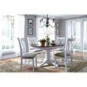 John Thomas SELECT Dining 5 Piece Dining Set with Double X Back Chairs
