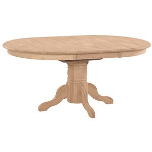 John Thomas SELECT Dining Butterfly Leaf Oval Pedestal Dining Table