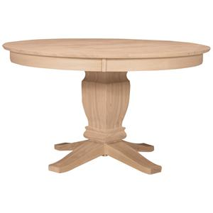 "John Thomas SELECT Dining 52"" Round Solid Top Pedestal Table"