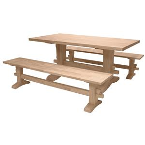 John Thomas SELECT Dining Traditional Trestle Table
