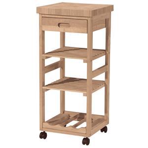 John Thomas SELECT Dining 3-Shelf 1-Drawer Trolley Cart