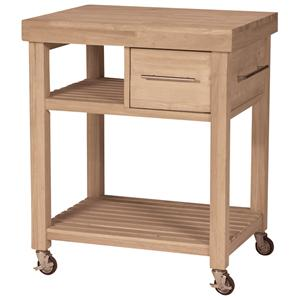 John Thomas SELECT Dining Kitchen Work Center with Castors
