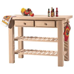 John Thomas SELECT Dining 2-Shelf 2-Drawer Kitchen Island