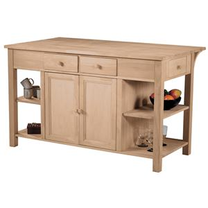 John Thomas SELECT Dining Super Kitchen Center with Breakfast Bar