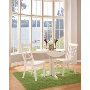 John Thomas Simply Linen Dinette Table and Chair Set