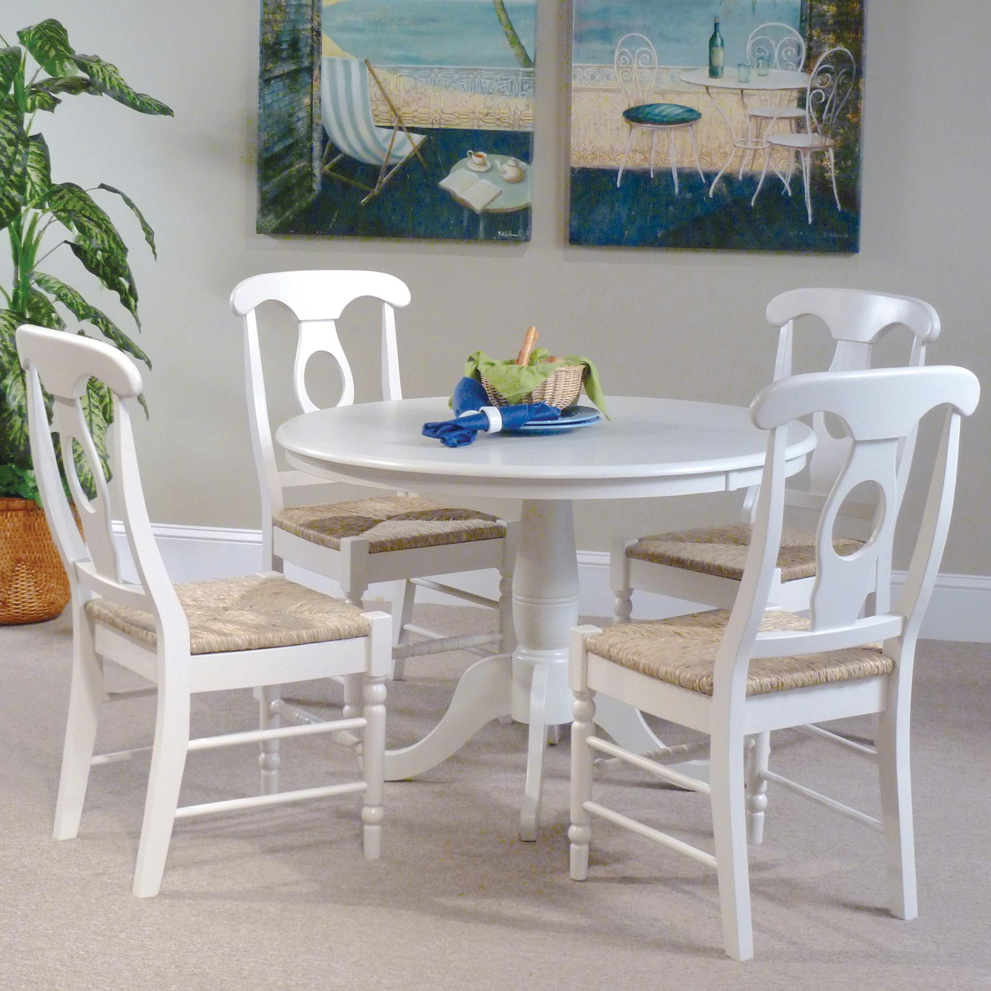 John Thomas Simply Linen Table and Chair Set - Item Number: T31+4xC31