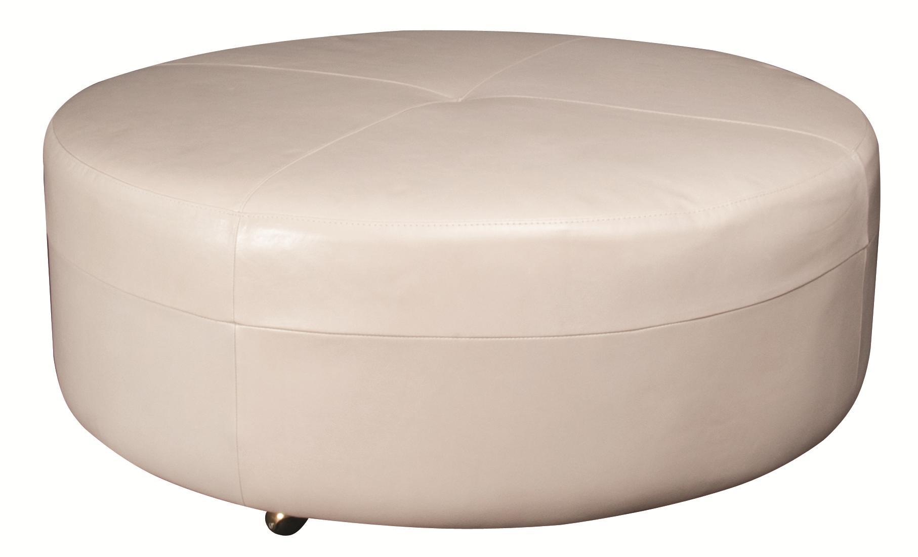 Morris Home Furnishings Alaina Alaina 100% Leather Ottoman - Item Number: 145133358