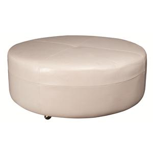 Morris Home Furnishings Alaina Alaina 100% Leather Ottoman