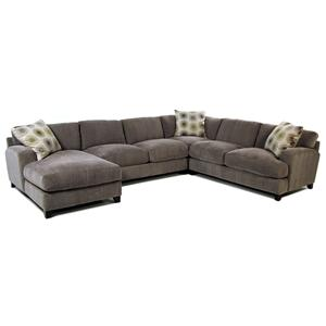 Jonathan Louis Gulliver Casual Contemporary Chaise Sectional