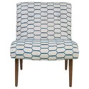 Jonathan Louis Accentuates Forbes Armless Accent Chair - Item Number: 09657-Frou Frou Tahiti