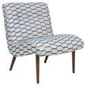 Jonathan Louis Accentuates Forbes Armless Accent Chair with Splayed Wooden Legs