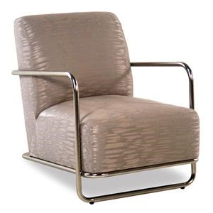 Cisco Accentuates Brushed Nickel Accent Chair