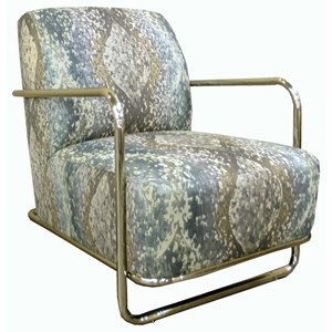 Jonathan Louis Accentuates Brushed Nickel Accent Chair