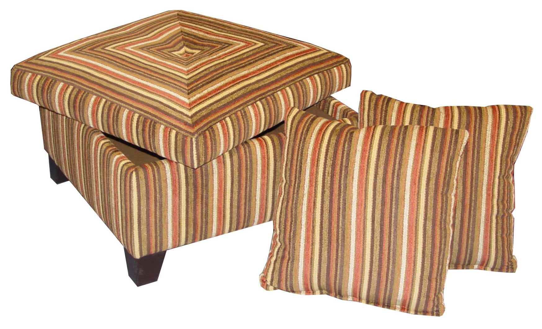 "Accentuates 32"" Storage Ottoman at Williams & Kay"