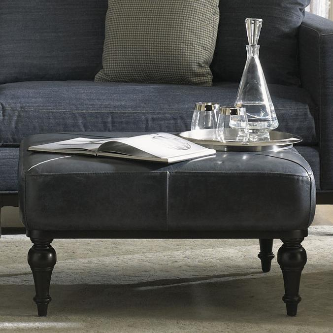 Accentuates Hayworth Leather Cocktail Ottoman by Jonathan Louis at Fashion Furniture