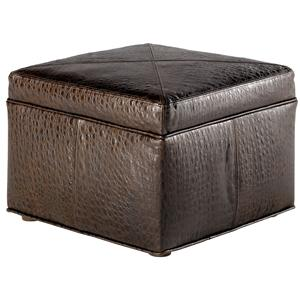 Jonathan Louis Accentuates Fortuna Leather Cube Ottoman