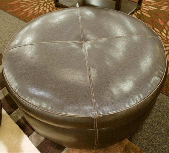 Alfred Round Ottoman by Jonathan Louis at Fashion Furniture