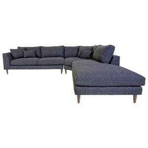 Jonathan Louis Anton 3 Pc Sectional Sofa w/ RAF Chaise