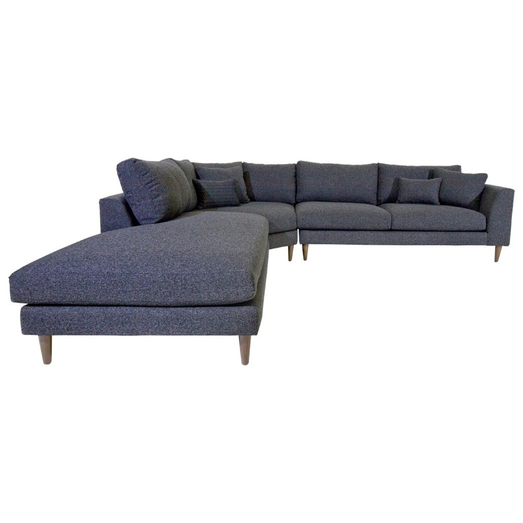 Jonathan Louis Anton Sectional - Item Number: 15928L+15911+15926R-Vibe Nocturnal