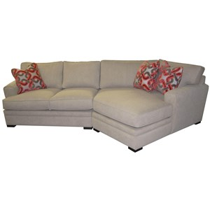 2Pc Cuddler Sectional w/ Pluma Plush Cushion