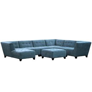 Jonathan Louis Belaire Contempary Sectional  sc 1 st  Rooms and Rest : jonathan louis burton sectional - Sectionals, Sofas & Couches