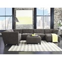 Jonathan Louis Belaire Contemporary Sectional  - Item Number: 125-82R+2x15+3x10-Caprice Granite
