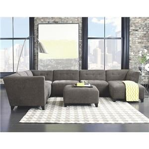 Jonathan Louis Belaire Contemporary Sectional  sc 1 st  Darvin Furniture : pictures of sectional sofas - Sectionals, Sofas & Couches