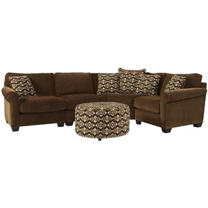 Jonathan Louis Benjamin Sectional Sofa with Wedge