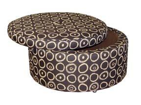 Jonathan Louis Benjamin Round Storage Ottoman - Item Number: 48962