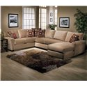 Jonathan Louis Benson L-Shape Sectional with Chaise - Item Number: 05832L+03+82R