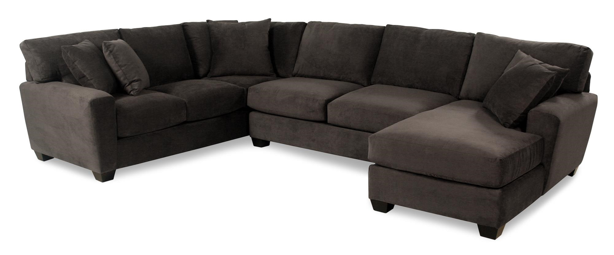Cisco Dolan  L-Shape Sectional with Chaise - Item Number: 05832L+05803+0582R-GYPSYFLANNEL