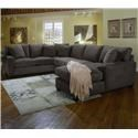 Cisco Dolan  L-Shape Sectional with RAF Chaise Lounge