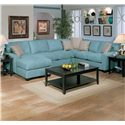 Jonathan Louis Benson L-Shape Sectional with LAF Chaise Lounge