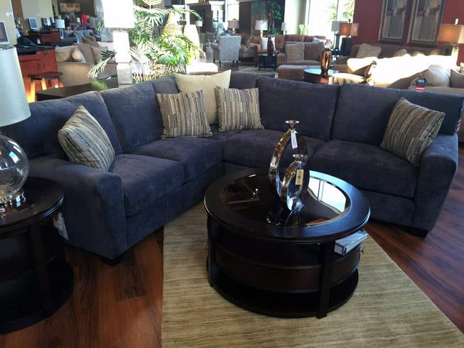Jonathan Louis Benson 2 Piece Sectional in Gypsy Graphite - Item Number: GRP-058-SECTIONAL